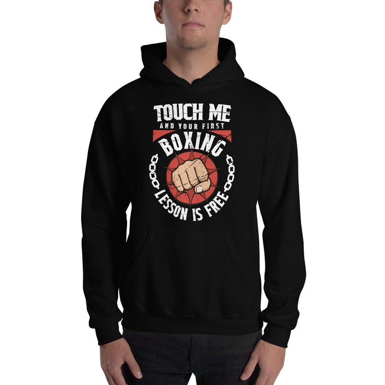 Martial Arts Boxing Shirt, Touch Me Your First Lesson Free