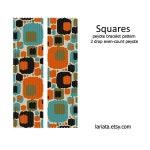 Squares - 2 Drop Peyote Bracelet Pattern INSTANT DOWNLOAD