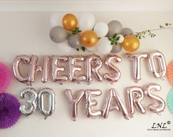 Cheers To 21 Years 50 16 Rose Gold Balloons Birthday Etsy