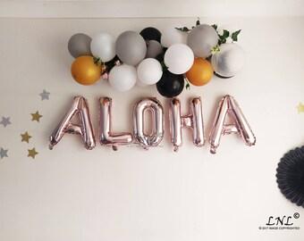 709314464d45 ALOHA Rose Gold Balloons