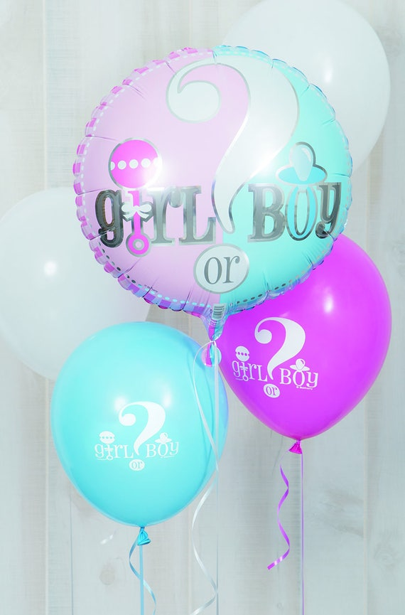 LARGE QUESTION MARK GENDER REVEAL FOIL BALLOON IT/'S A BOY GIRL BABY SHOWER PARTY