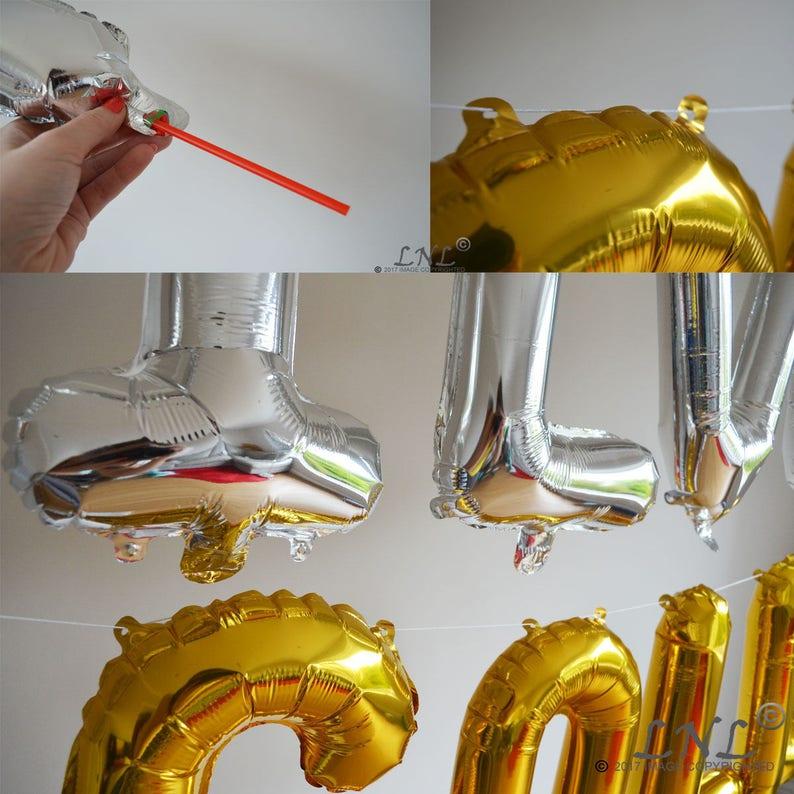 Bridal Letters Gold Balloons SHIT JUST got REAL Rose Gold Balloons Custom Wedding Phrase Balloon Banner Silver Balloons