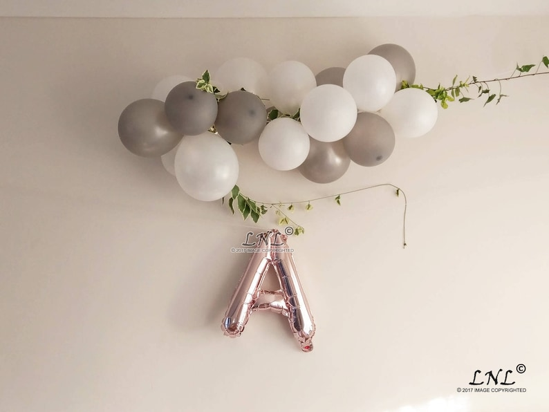 custom Phrase Gold Personalized Ballloons Letters Banner Silver Garland Balloons Merry Christmas Tree Custom Name Rose Gold Balloons