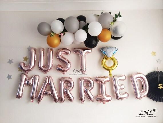 Palloncini per feste di matrimonio decorazioni per feste di nozze decorazioni per matrimoni Just Married feste di fidanzamento colore oro rosa