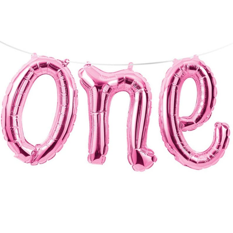 birthday party balloons ONE pink balloons 16 balloons wild one mylar balloons 1st birthday letter i am one baby shower