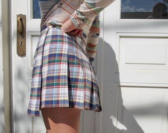56d8bafe5 Vintage Mini Pleated Tennis Skirt, PETITE Plaid skirt, 90's Teenage, BRAND  NEW!