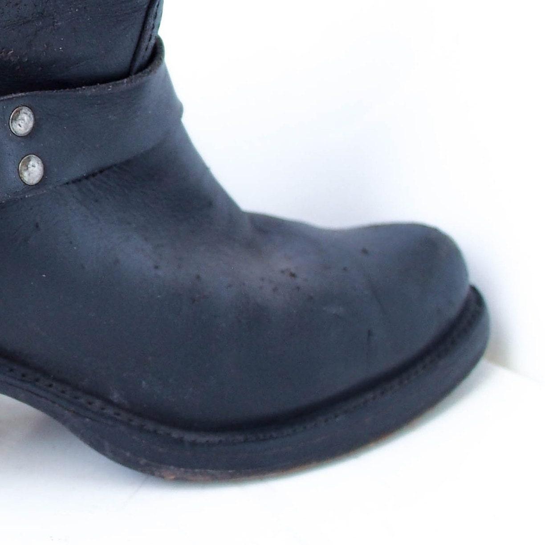 90's 90's 90's Harness  botas  in negro cuero FRYE Motorcycle  botas  6   37 Festival  botas  5717c4