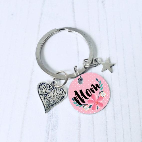 Porte clés maman, maman porte-clé, personnalisé cadeau maman, cadeau pour les mamans de jour, cadeau d'anniversaire de maman, fête des mères bas de remplissage, maman, livraison dans le monde