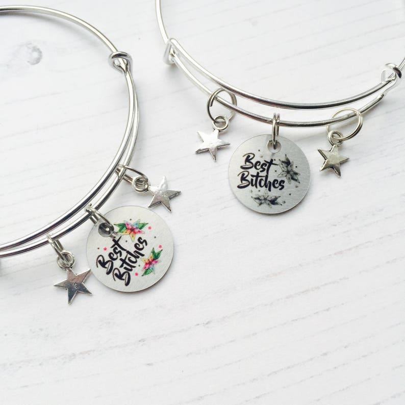 Best Bitches Bracelet Friends Set Best Friend Jewelry Birthday Gift For Best Friend Gift For My Friends Best Friends Matching Bracelets
