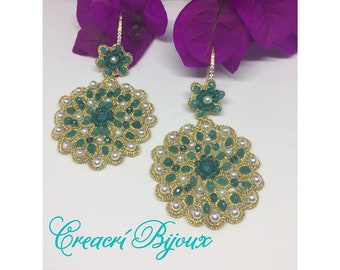 Gold, beautiful and light and precious Chiacchierini earrings
