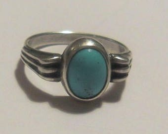 Silver Ring Arizona Turquoise