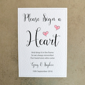 Blue Hearts 260gsm Hammer Card Personalised A4 Welcome to Christening Sign
