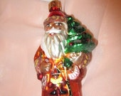 Vintage Christopher Radko Authentic Christmas Ornament crystal hand painted Baby Balmoral Santa Made in Poland NOS
