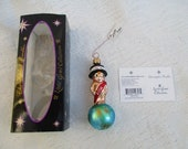 Vintage Christopher Radko Authentic Christmas Ornament crystal hand painted 2002 New Years little Gems 99-974-2 Made in Poland NOS
