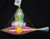 Vintage Christopher Radko Authentic Christmas Ornament crystal hand painted 1993 quot Santa in Space quot 93-127-4 Made in Poland NOS