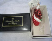 Vintage Christopher Radko Authentic Christmas Ornament crystal hand painted 1999 Little Chipper Children Foundation 99-SP-50 Poland NOS