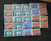 24 Vintage Schylling tin toys ornament NIB New old Retail Store Stock Horseman bus trolley fire engine speedboat