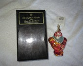 Vintage Christopher Radko Authentic Christmas Ornament crystal hand painted 1999 Pediatric Cancer Charity Ornament quot Dear to my Heart quot Box