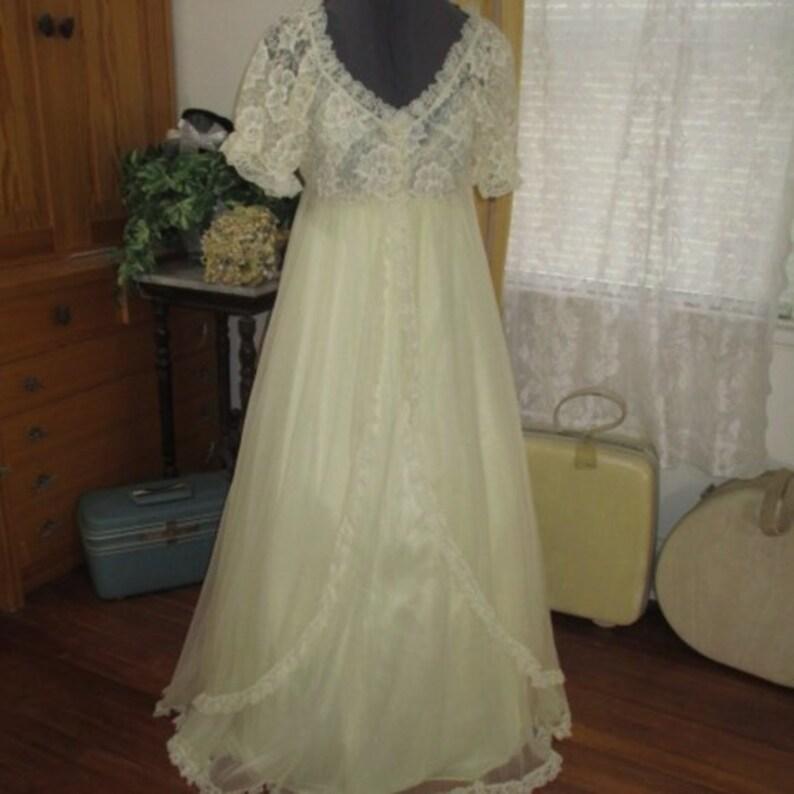 de040ceaa48 Vintage Tosca Pin-Up Boudoir 50 60s double chiffon nightgown