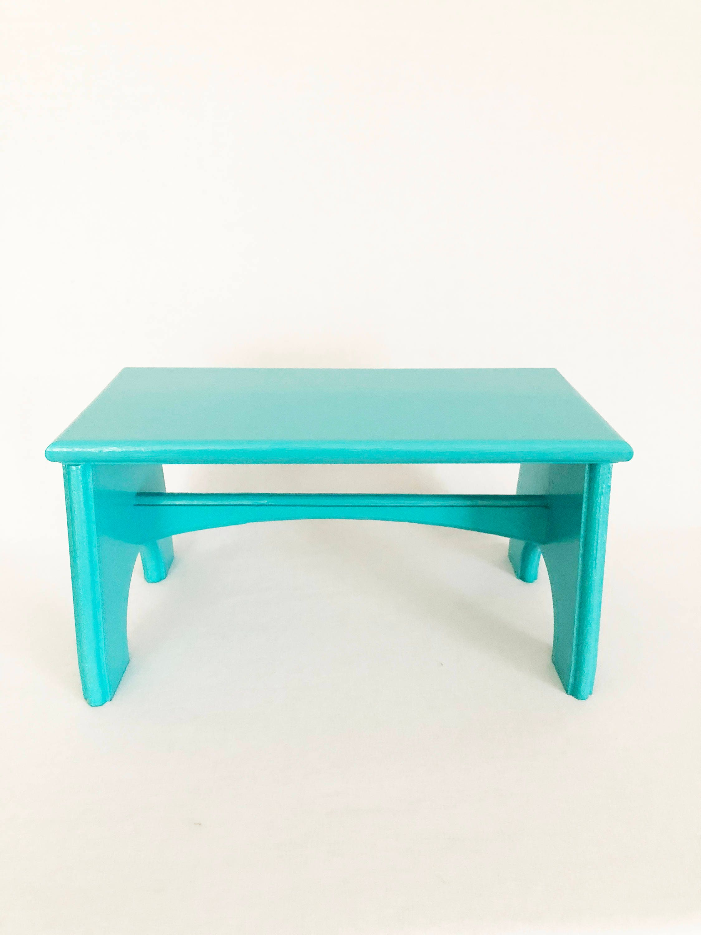 TURQUOISE children\'s/kids\' softwood step stool