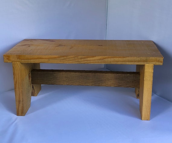 Sgabello In Legno Pieghevole : Passo sgabello di legno fatto dal legname grezzo tagliato etsy