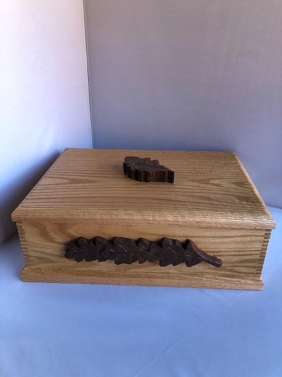 Handcrafted Wooden Treasure or Keepsake Box