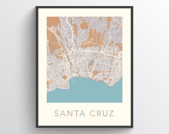 Santa cruz map | Etsy on barstow ca city map, valencia city map, east los angeles city map, burbank city map, los angeles county city map, calif city map, alpine city map, san bernardino city map, southern ca city map, port townsend city map, oakhurst city map, chico ca city map, napa and sonoma county map, brookings city map, corona city map, south san francisco city map, tiburon city map, albuquerque city map, la city map, oakland city map,