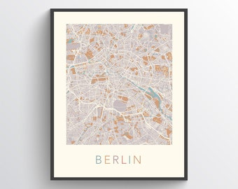 Karta Berlin Bvg.Berlin Karte Etsy