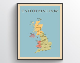 Uk map | Etsy Kingdom Of Great Britain Map on mercia map, france map, england map, ireland map, british america map, scotland map, serbia and montenegro map, roman empire map, great britain on a map, united kingdom map, spain map, french revolutionary wars map,