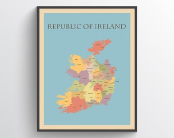 Map Of Ireland Ireland.Map Of Ireland Etsy