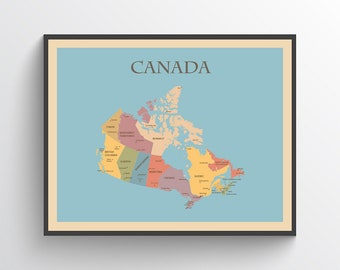 Canada map   Etsy on
