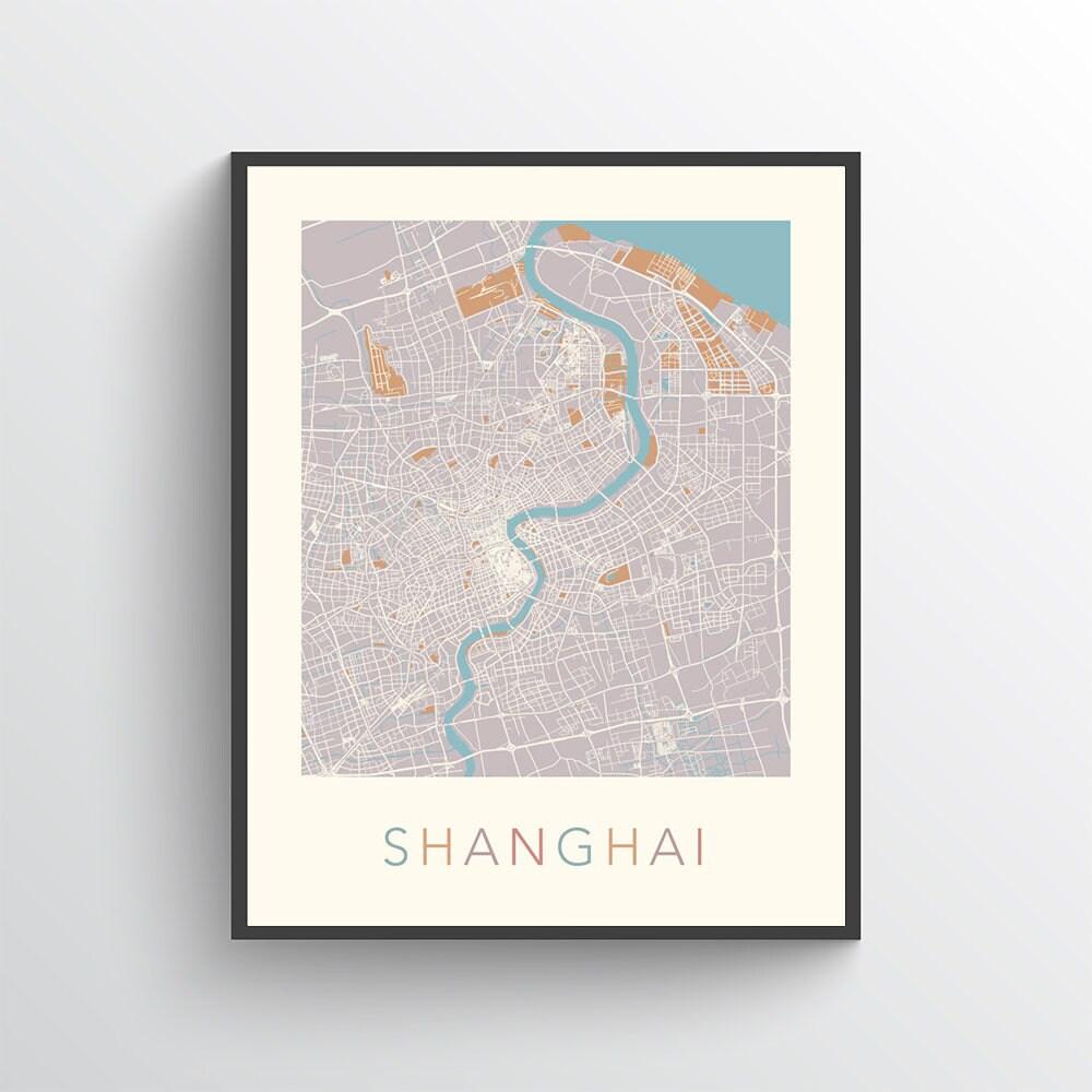 Shanghai Map, Shanghai Poster, Shanghai Print, Map of Shanghai, Shanghai on bridge street map, road map, parking lot map, jackson street map, a street art, a street intersection, washington street map, weather map, state map, detailed street map, physical map,