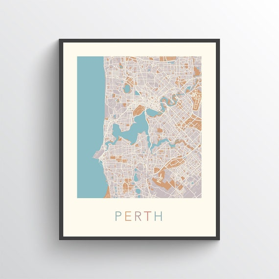 Perth map perth poster perth print map of perth perth etsy image 0 gumiabroncs Gallery
