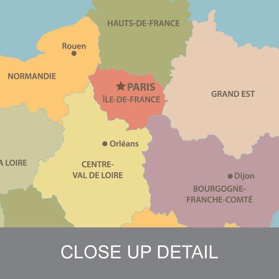 Map Of France Rouen.France Map France Print France Poster Map Of France France Wall Art France Map Print France Art France Decor France Art Print