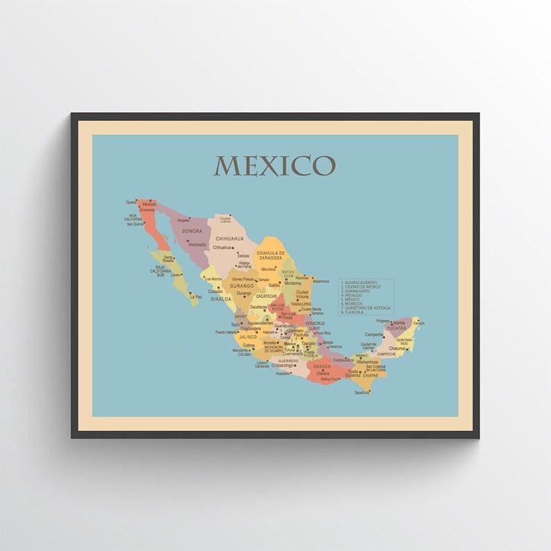 Mexiko Karte Umriss.Mexiko Karte