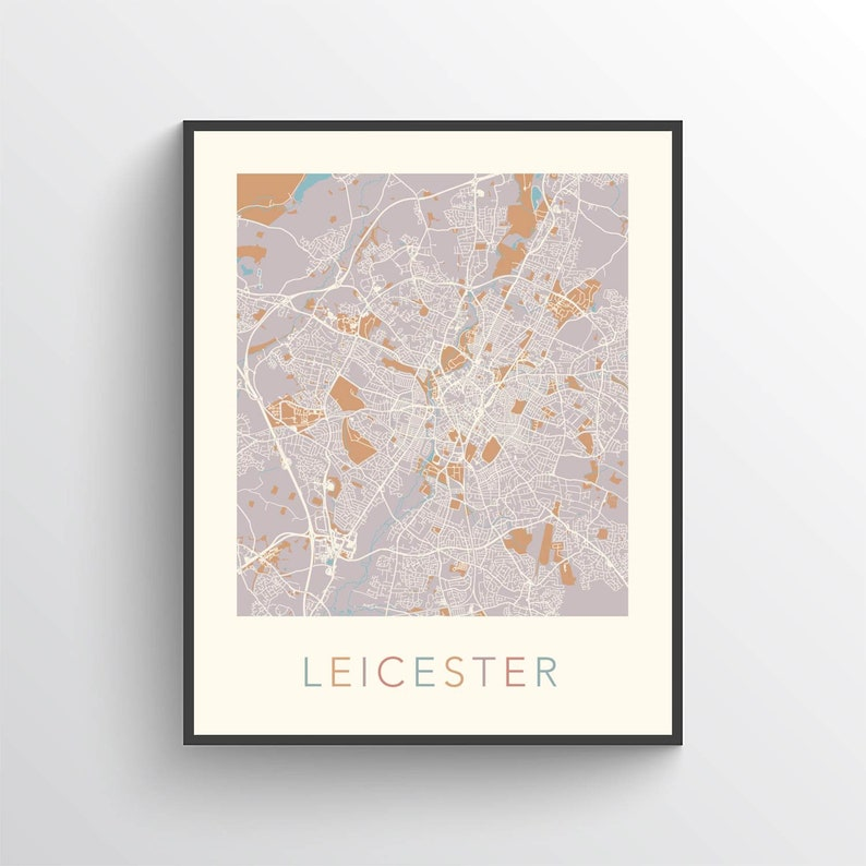 Map Of England Leicester.Leicester Map Kathmandu England Leicester Uk Leicester Poster Leicester Art Leicester Gift Leicester City Map Leicester Map Print