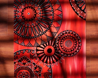 Mandala with All Shades of Red