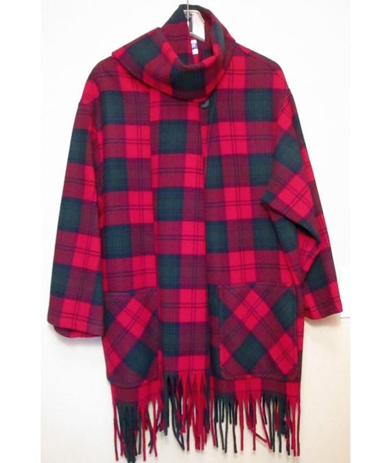 Pendleton Women's Tartan Plaid Wool Jacket Wrap wi