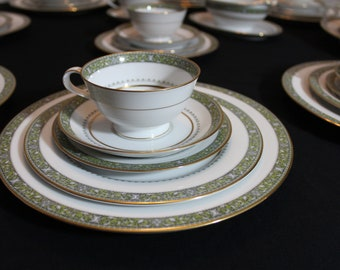 Rare Noritake Thurston Porcelain China Set for 7 persons plus extras - 42 pieces total