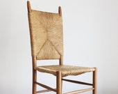 High-back dining chair, France ca 1950