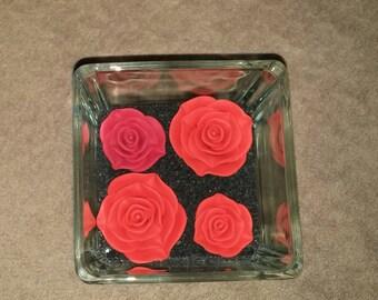 Square Red Roses vase
