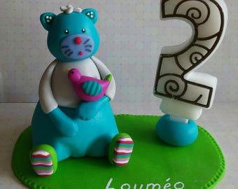 Birthday candle holder