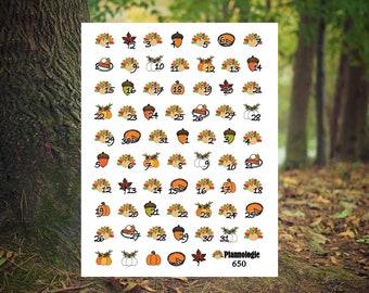 Thanksgiving Date Cover Ups - Date Dots - Thanksgiving Planner Stickers - Turkey - Pumpkin - Pie - Autumn - Fall - Harvest