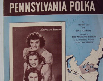 Pennsylvania Polka - vintage sheet music