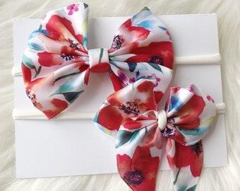 Floral Headband bows
