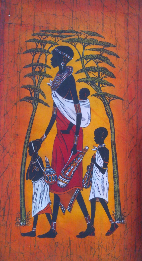 Wall Hanging Batik Wall Hanging Home Decor Wall Decor Kenya Handmade Batik African Wall Hanging Hotel Decor Living Room Decor