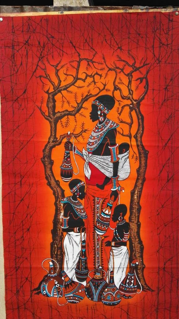 Wall Hangingbatik Wall Hanginghome Decorwall Decor Kenya Etsy