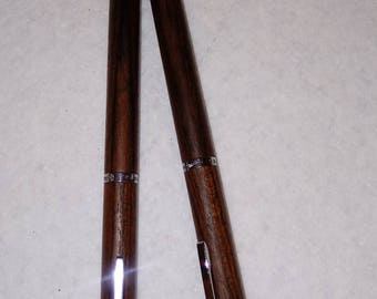 PRICE REDUCTION -- Hallmark Ball Point Pen and Mechanical Pencil Set with silver trim -- 002
