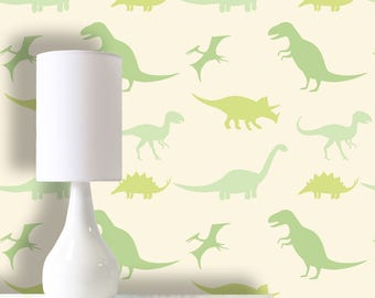 Dinosaurs Wallpaper, Removable Wallpaper, Self Adhesive Wallpaper, Pasted Wallpaper, Mural, Temporary, Feature Wall