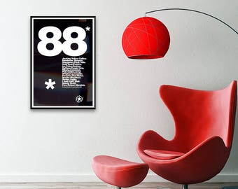 Acid House 88 'The List' Framed A3 Print, poster, wall art